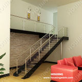 Balustrade를 가진 현대 Steel Glass Indoor Staircase