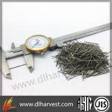 Fibra de acero para el concreto reforzado y los materiales de materiales refractarios