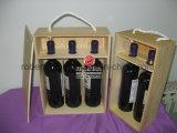 Venta al por mayor del rectángulo de madera del regalo del vino
