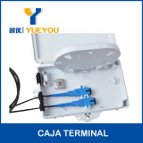 ABS Material 2 Salidas SC APC Connector Fiber Optic Terminal Box/CAJA DE DISTRIBUCION