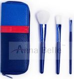 kit azul profundo del cepillo del maquillaje del color 3PCS/Set con el bolso que viaja