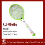 LED 빛과 플래쉬 등을%s 가진 재충전용 모기 Swatter