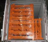 طوي وتكويم الثقيلة شبكة أسلاك حاويات لمستودع التخزين