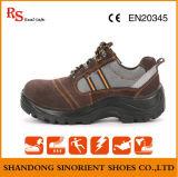 Ботинок работы ботинок безопасности людей кожаный