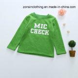 Zeichen gekopiertes Pullover-(mit Samt) Kind-T-Shirt