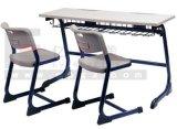 2015 학교 교육을%s 최신 판매 고품질 학교 가구 두 배 학생 Desk&Chair