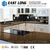 Exportation de brames de quartz de la couleur 3200*1600mm de Brown grande