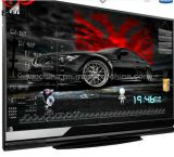 "Eaechina 70 ""Large Screen All in One PC TV WiFi Bluetooth Infrared Touch Montagem em parede projetado moldura de alumínio escovado"