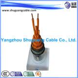 Isolation PE/Muti-Core/blindées/câble sous gaine en PVC/contrôle