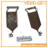 Pin fait sur commande en métal avec Siliver plaqué (YB-Lp-06)