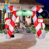 Haltbarer kundenspezifischer Belüftung-aufblasbarer im Freienweihnachtsrotwild-Bogen
