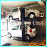 Estacionamiento vertical del coche del suelo doble aprobado del Ce