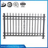 OEM力のModerハウジングの方法装飾のための上塗を施してある鋳造の錬鉄の庭の塀