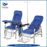 Silla Transfusion de acero inoxidable de 2 posiciones con pie