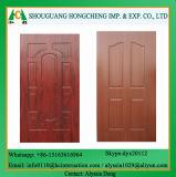Piel de madera de la puerta del MDF de la chapa de la fábrica de Linyi