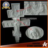 Monument en pierre de granit de noir de pierre tombale