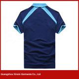 Mulheres feito-à-medida do algodão camisas do fato do esporte (P166)
