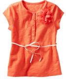 Tunique de fille à rayures Kid's T-shirt robe sans manches Tops G39