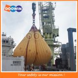 Pruebas de carga de la grúa Doowin bolsas de agua