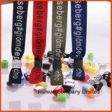 Tissu tissé personnalisé bracelet avec broderie logo pour l'événement (PBR002)