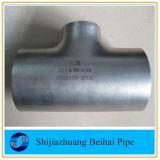 Te recta de Ftting Sch40s del tubo sin soldadura de SS304 B16.9