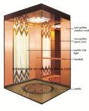 Passeggero Elevator con Rosa Golden Stainless Steel Car Cabin