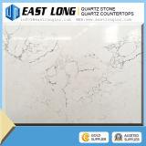 Surface solide 3cm, brame de marbre artificielle de quartz de Brown de pierre de quartz pour la partie supérieure du comptoir de cuisine bon marché