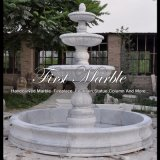 Fontaine fatiguée de trois Metrix Carrare pour les meubles Mf-1178 de jardin