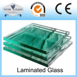 階段のための6.38-43.20mm和らげられた薄板にされたガラスの安全ガラスか手すりまたは手すり