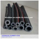 SAE100 Fil en acier à haute pression hydraulique tressée flexible en caoutchouc