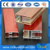 Extrusión de aluminio de grano de madera para ventana y puerta