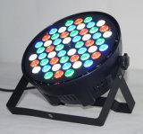 La IGUALDAD plástica barata de la etapa de 54PCS 3W RGBW puede lavar la luz