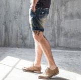 最も新しいクラシックOEMの簡単な元の細い余暇によって洗浄される人の急にジーンズのズボン