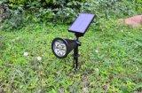Iluminación solar al aire libre 4 luces de la pared del paisaje del césped del jardín del LED