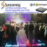 Fantastischer Spiegel-Zeit-Tunnel LED Dancefloors der Hersteller-Marken-3D