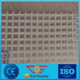 Vetroresina rivestita Geogrid biassiale del PVC di colore bianco per la produzione concreta del comitato
