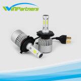 차 LED 헤드라이트 전구 50W 8000lm 크리 말은 1개의 Headlamp 자동차 안개 정면 빛에서 옥수수 속 LED 헤드라이트를 전부 잘게 썬다