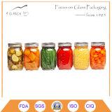 Grau alimentício Recipiente de vidro para doces, Salsa, Embalagem de mel