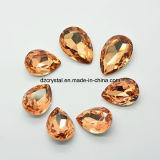 Factroy Preis-dekoratives Silber gefaltete Kristallraupen für die Schmucksachen, die vom China-Lieferanten bilden