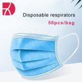 (Blauw 50 STUKS) oorhaakmasker, comfortabel stofmasker, bescherming wegwerpmasker