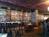 団体および小売りの熟したきのこのレストランの壁紙の図形壁の覆い