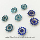 Kristall-Blumen-Greifer-Einstellung des HKtopaz-Großverkauf-9mm nähen lose Swaro auf Glasraupen (der TP-9mm Saphir rund)