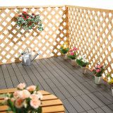 贅沢な木製のプラスチック合成のビニールの板のDeckingの屋外の床タイル