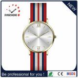 O logotipo personalizado relógio de quartzo de relógio de Aço Inoxidável homens Leather Watch (DC-0369)