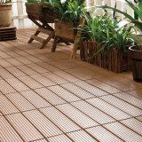 Carrelages stratifiés par panneau solide composé en plastique en bois de verrouillage extérieurs matériels de Decking de WPC DIY en Chine