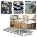 台所または浴室のための水晶または大理石または花こう岩の虚栄心の上