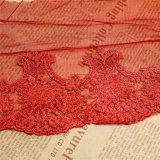 Merletto netto di nylon della maglia di immaginazione della guarnizione del ricamo del poliestere del merletto del commercio all'ingrosso 25cm della fabbrica del ricamo di riserva di larghezza per l'accessorio degli indumenti & tessile & tende domestiche