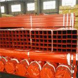 Труба утюга красного квадрата ASTM A500 стандартная покрашенная