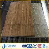 Hölzernes Korn-Aluminiumbienenwabe-Panel für Fassade-Bedeckung