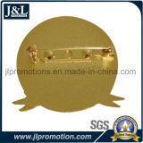 Distintivo lucido del metallo di disegno del cliente dell'oro